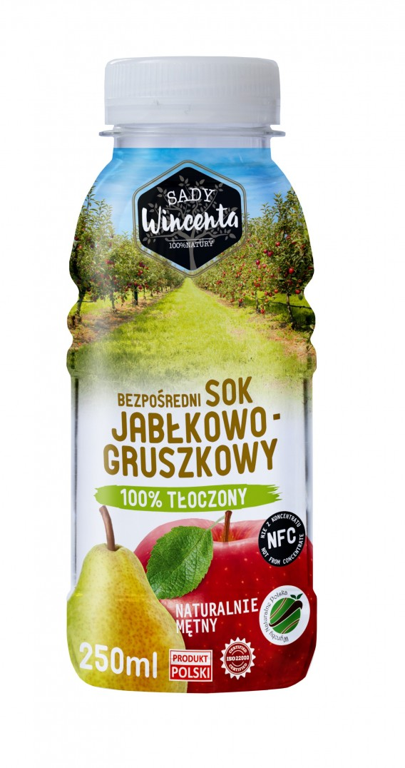 SADY WINCENTA SOK JABŁKO-GRUSZKA 250ML PET